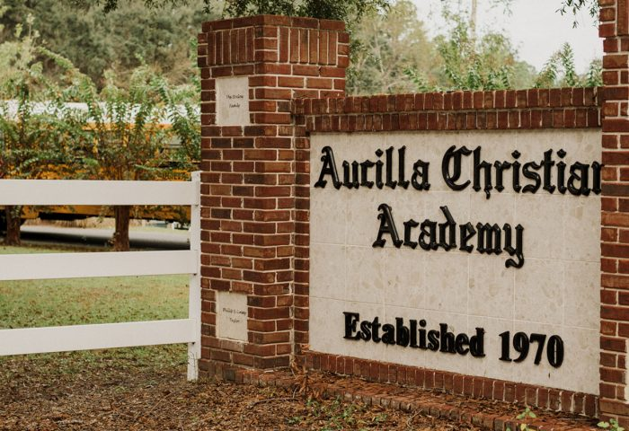Aucilla Christian Academy front sign