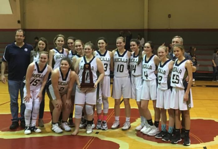 aucilla christian academy girls basketball district champs