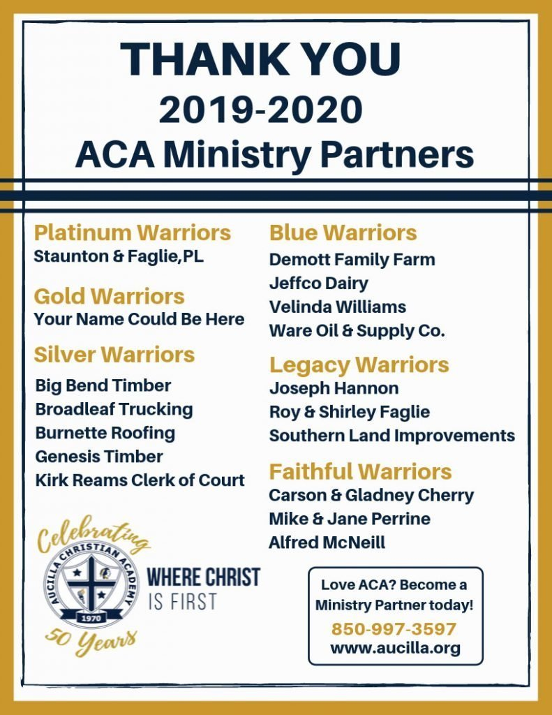 2019-2020 Ministry Partners List